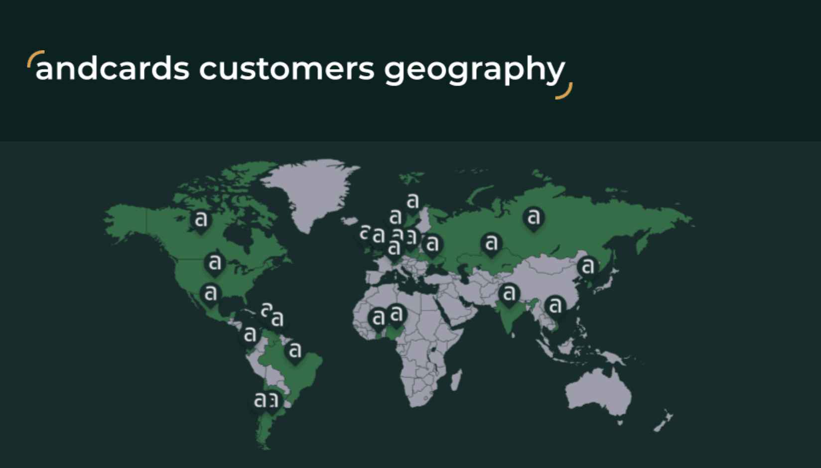 andcards customers geography map