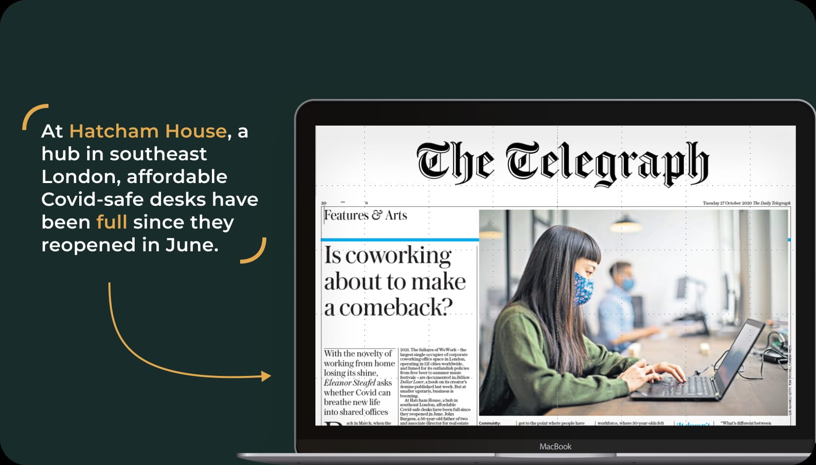 The Telegraph about Hatcham House popularity