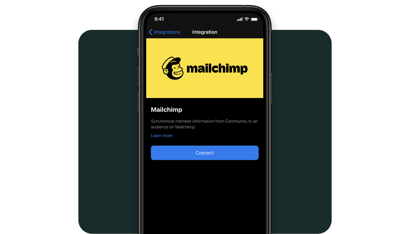 Mailchimp integration with andcards